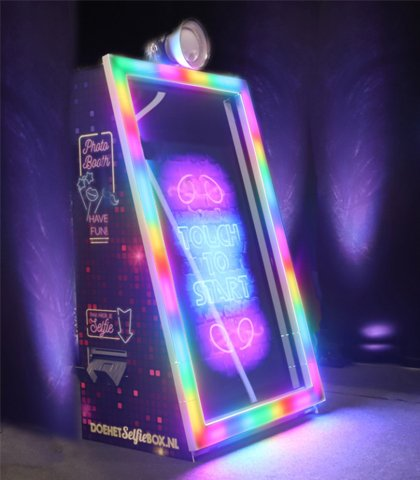 disco photo mirror led photobooth
