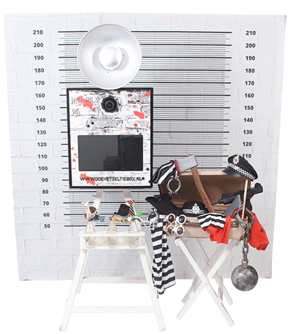 prison themed Photobooth
